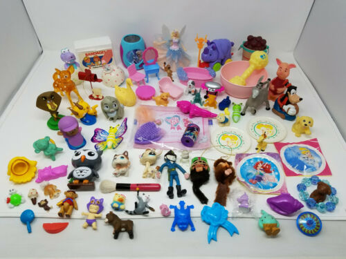 Huge Junk Drawer LOT of Vintage Toys Collectibles Trinkets Disney Barbie more