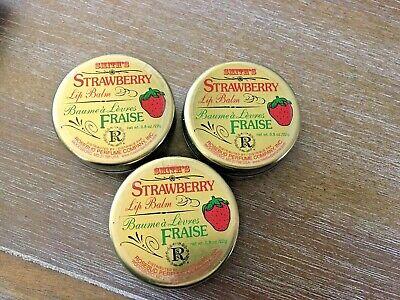 Smith's Strawberry Lip Balm Tin .8 oz Skin Care New Sealed - ONE