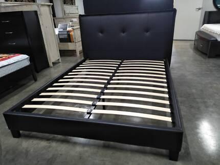 SALE!!! Tandie Queen/King Bed In Black AV At Both Showrooms