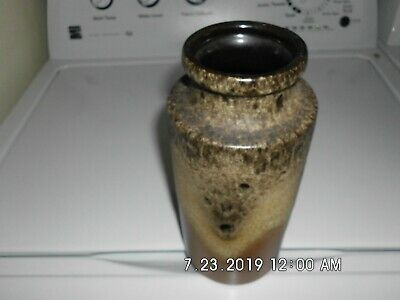 )Scheurich for Raymor Vase Lava Drip Glaze Pottery West German Vintage
