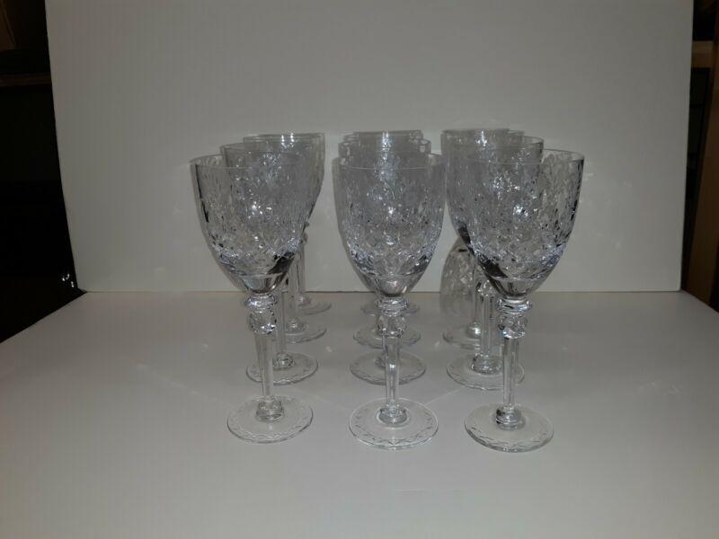 Set Old or Antique  Cut Crystal Wine Glasses  Fine