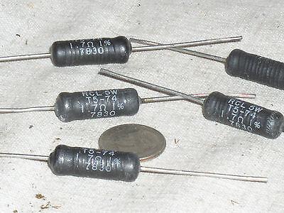 5 Rcl T5-74 Wirewound 1.7 Ohm 5w 5 W Watt 1 Precision Wire Wound Power Resistor