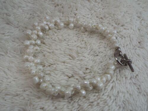 White Glass Bead Bracelet (C44)