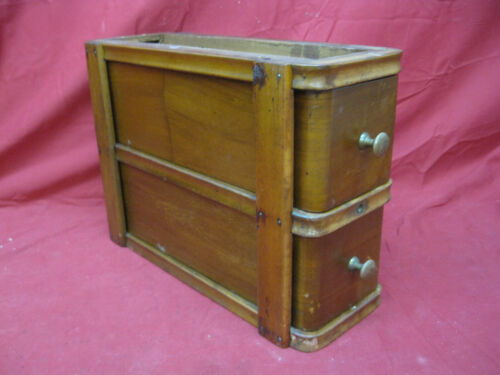 Antique Sewing Machine Oak Drawers in Frame #4