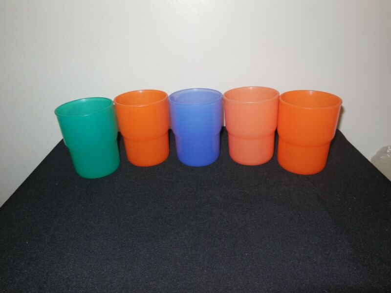 Tupperware TableTop Stackable 8oz Tumblers Set Of 5