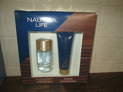 Men's Nautica Life Gift Set 1.7oz Cologne Spray & 2.5oz Shower Gel, NIB