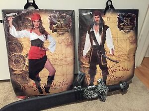 pirate costumes and a sword Chadstone Monash Area Preview