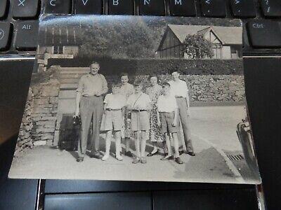 PHOTOGRAPHIC  PORTRAIT 10 x 9cm sign says ambleside windermere etc 1950 ramblers
