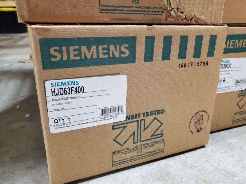 Siemens HJD63F400 circuit breaker frame  600v warranty Type HJD NEW in box
