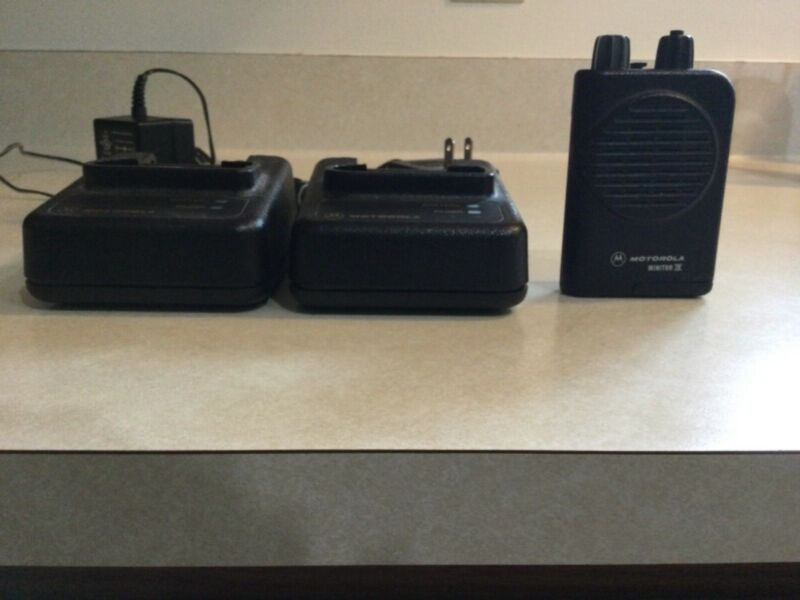 Motorola Minitor iv pager and chargers
