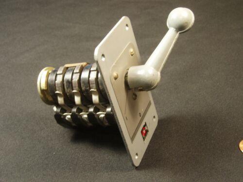 Cutler Hammer 3-Position Lever Switch COOL Steampunk Movie Prop Bakelite