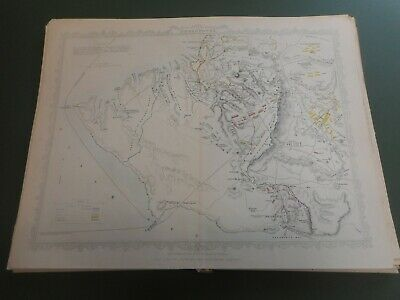100% ORIGINAL  SIEGE OF SEBASTOPOL  MAP BY J TALLIS C1858 VGC ORIGINAL COLOUR