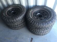 100 200 series 17 inch wheels with mud tyres 285/70r17 Mitchell Gungahlin Area Preview