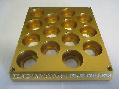 Luxor Aluminum Er-32 Collet Rack. Small Footprint Space Saver Haas Fadal Mori
