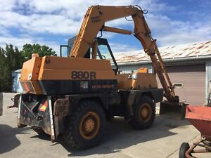 Case 880R rubber tired excavator for sale