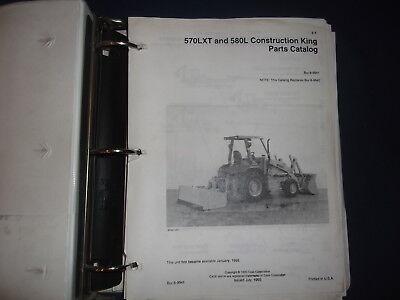 Case 570lxt 580l Construction King Backhoe Loader Parts Manual Book 8-9941