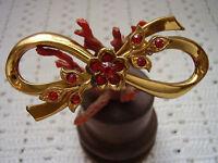 Coro , Anni 40 - 50 , Spilla Metallo Tono Oro Strass Rossi -  - ebay.it