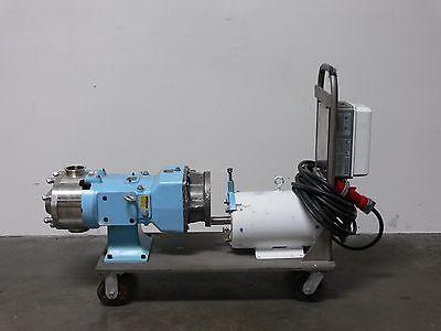 Waukesha 130u2 Univ. 2 Positive Displacement Pump 079 Gear Box 7 12 Hp Motor