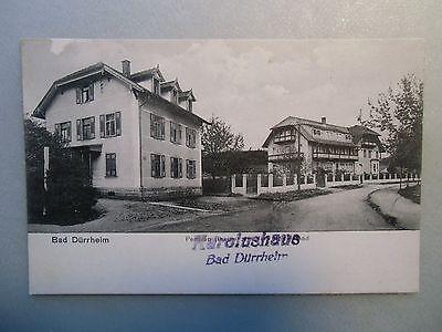 Ansichtskarte  Bad Dürrheim Pension Rheine Stempel Karolushaus um 1910  ?