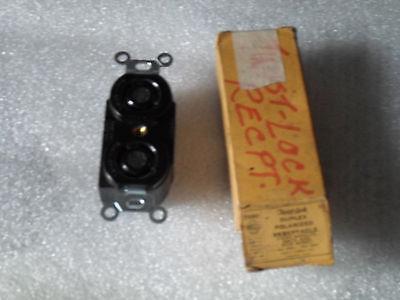 Hubbell Twist-lock Duplex Polarized Receptacle 7580 -10 A 250 V 15a 125v - New