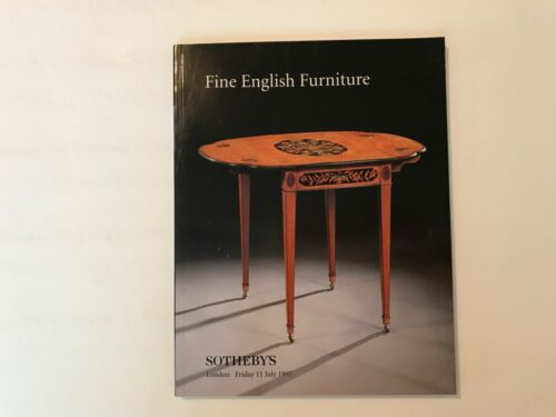 1997 Sotheby's Auction Fine English Furniture Catalogue London