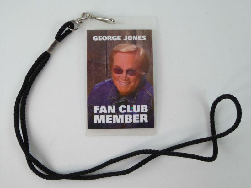 Country Music Artist George Jones Fan Club Member Badge w/Lanyard Personalized