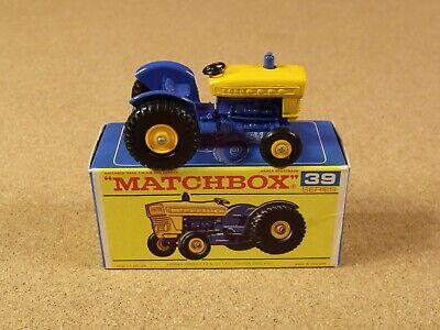 VINTAGE LESNEY MATCHBOX # 39 FORD TRACTOR ORIGINAL BOX