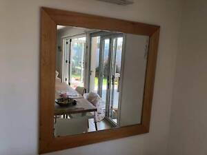 Mirror with timber frame