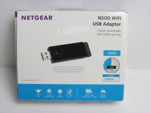 NETGEAR N300 Wireless Wi-Fi USB Adapter (WNA3100)