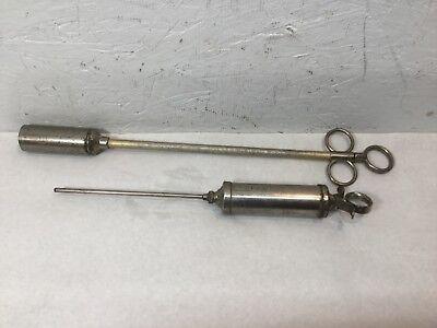 Vintage Metal Veterinary Syringe & Pill Pusher Veterinary Medical
