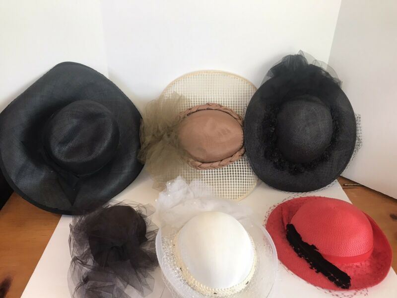 Vintage Womens Hats Lot Of 6 !
