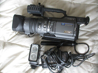 Sony DIgital DSR-PD150 3CCD Camera W/Case - Light kit- Recorder-New Batteries +  for sale  Shipping to India