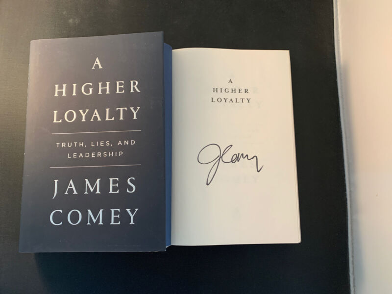 James Comey A Higher Loyalty Signed 1st Edition HC Book Autograph FBI Director