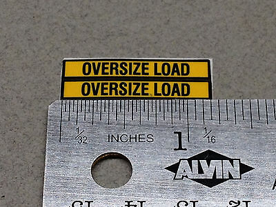 1/64 DCP PARTS HEAVY HAUL OVERSIZE LOAD DECAL