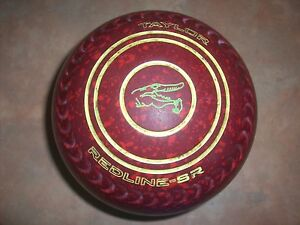 Taylor REDLINE SR Lawn Bowls Size 4H WB17 Gripped Red Speckled Surfers Paradise Gold Coast City Preview