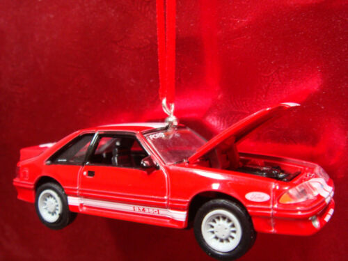 1988 88 FORD MUSTANG FOX BODY GT 350 RED CHRISTMAS TREE ORNAMENTS