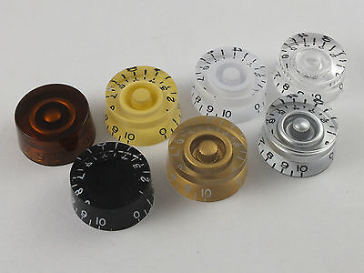 SPEED DIAL KNOBS for Gibson Epiphone style electric guitars 7 Colours