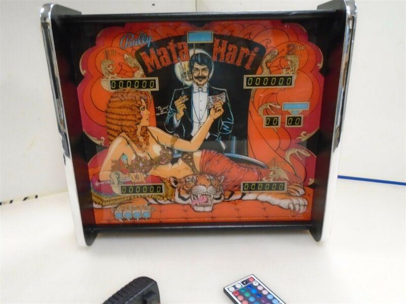 Bally Mata Hari Pinball Head LED Display light box