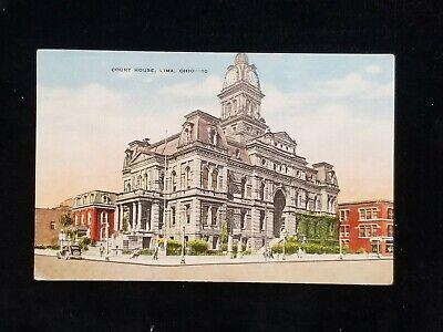 VINTAGE COURT HOUSE LIMA OHIO POSTCARD Vintage Postcard House