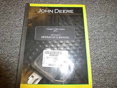 John Deere 4010 Compact Utility Tractor Owner Owners Operator Manual Omlvu13343