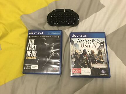 Ps4 games and controller keyboard  Birrong Bankstown Area Preview