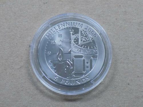 1999 Pobjoy Mint 5 Pound Titanium Millennium 2000 Gibraltar Proof Coin with