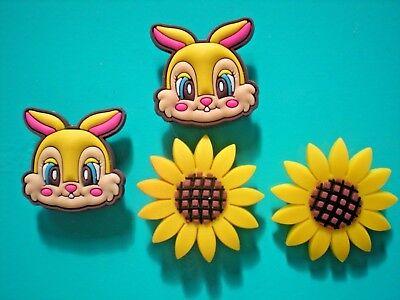 Jibbitz Croc Clog Shoe Plug Button Charm WristBand Accessories Sun Flower Rabbit