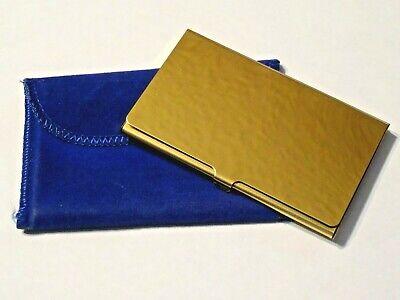 Flip Case Business Gold Tone Card Holder Metal Case With Cloth Holder