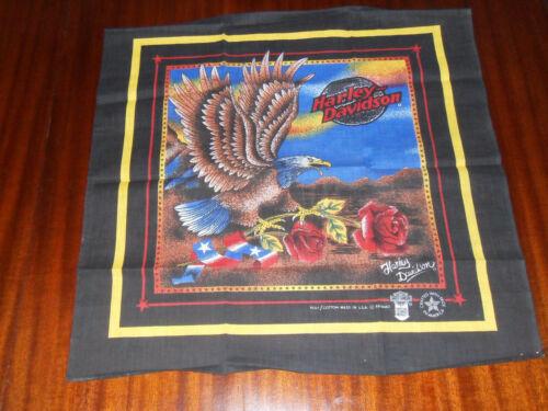 Vintage Harley Davidson Bandana - Eagle with Rose