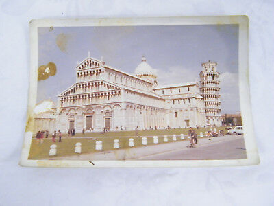 Vintage 1971 Real Photo of The Duomo & the Leaning Tower of Pisa in Italy
