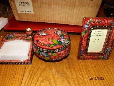 3 Piece Decorative Desk Accessories Set--new In Box