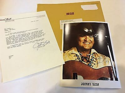 "Johnny Bush, Country Singer, Signed  8"" x 10""  Photo"