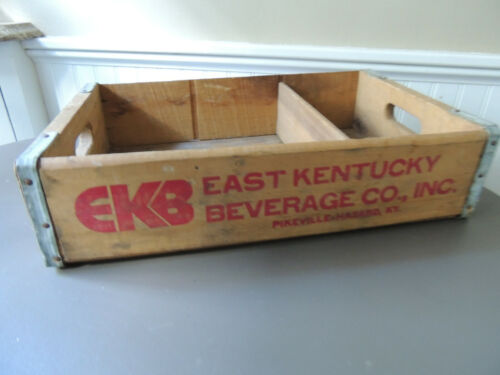 Vtg EKB East Kentucky Beverage Co. Wood Crate Pikeville - Hazard
