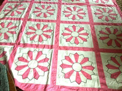 Beautiful Antique Handmade applique`quilt all hand made